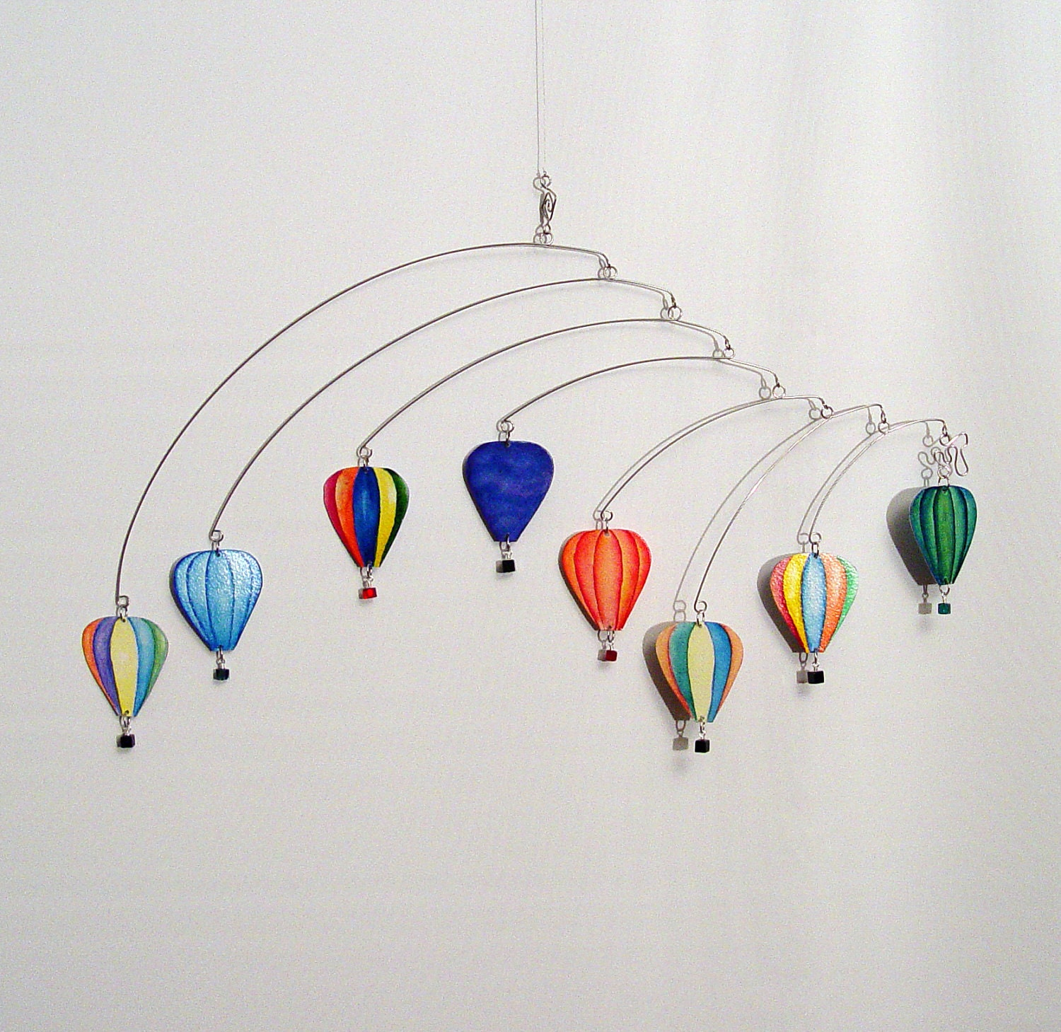 Hot Air Balloon Kinetic Hanging Mobile Art Made With