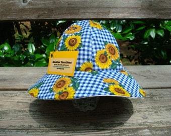 Infant Lightweight Cotton Sunflower Summer Sunhat - Picnic Time 682