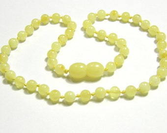 Milky amber teething necklace