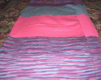Hand Knitted Twin Afghan