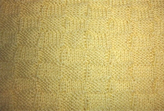 How Long Does It Take To Weave A Basket : Hand knitted baby afghan in basket weave by lonewolfafghans