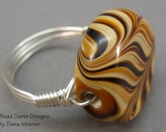 Size 6 1/2 Caramel Swirl Ring