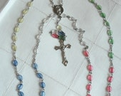 ROSARY - LONG AND MULTICOLOR BEADS - VINTAGE