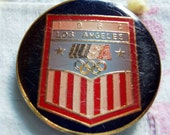 L.A. 1984 OLYMPICS BELT BUCKLE AND BELT - MADE BY LEVI STRAUSS