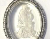 Vintage Diana the Huntress Intaglio Pendant  by Avon