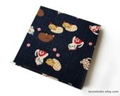 Fabric Sticky Note (Post-it) Cover 3x3 -Playing Kittens -