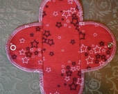 Cotton Flannel Menstrual Pads Regular Pad RED STARS