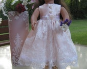 Communion Gown for 18 inch Doll, American Girl Communion/Wedding/Ball Gown, Doll's Ball Gown, 18 Inch Doll Ball Gown, Doll Clothing