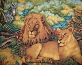 Animal Safari Wall Art Quilt