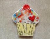 Ceramic Cupcake Magnet