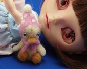 Blythe  and her WADDLES   Needle Felted Duckling  Blown Glass Eyes  ADORABLE  Chris
