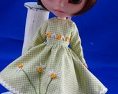 Blythe NEW  Lazy Daisy Retro Style Embroidered Dress...Darling Chris