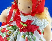 "Waldorf    ""Strawberry Pixie"" 5 Pc Ensemble  for 13 to 15 inch doll.Darling Chris"