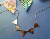 Silver bunting necklace