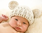 Crochet Baby Hat, Baby Girl Hat, Baby Boy Hat, Infant Winter Hat, Baby Hat, Newborn Crochet Hat, Hat with Ears, Baby Beanie, MADE TO ORDER