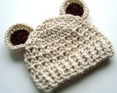 Newborn Hat, Baby Hat with Ears, Crochet Hat with Ears, Infant Hat with Ears, Newborn Crochet Hat with Ears, MADE TO ORDER