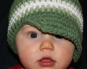 Boys Crochet Hat, Toddler Crochet Hat, Baby Boy Hat, Boys Visor Hat, Visor Beanie Hat, Summer Hat, Toddler Crochet Hat, MADE TO ORDER