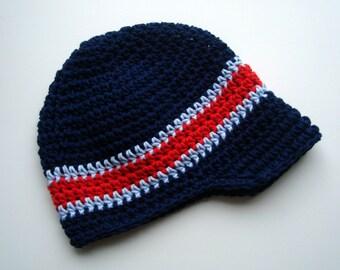 Boys Crochet Hat, Baby Boy Hat, Toddler Boys Hat, Boys Visor Beanie Hat, Boys Winter Hat, Crochet Brim Hat, Boys Hat, MADE TO ORDER