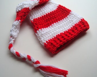 Baby Elf Hat, Baby Boy Hat, Baby Girl Hat, Newborn Hat, Infant Hat, Crochet Baby Santa Hat, Made in your color choices, MADE TO ORDER