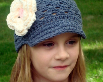 Crochet Baby Hat, Crochet Toddler Hat, Cotton Hat, Baby Girl Hat, Crochet Hat, Newborn Crochet Hat, Baby Girl, MADE TO ORDER
