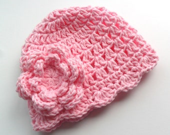 Crochet Baby Hat, Toddler Crochet Hat,  Pink Hat, Baby Girl,Infant Winter Hat, Crochet Hat, Toddler Hat, Crochet Girls Hat, MADE TO ORDER