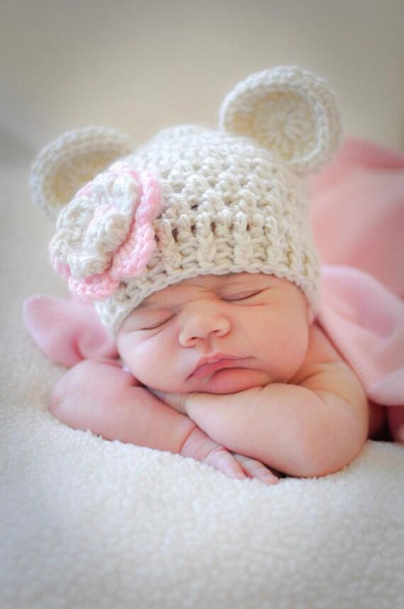 baby m dchen hut baby girl geh kelter hut h keln baby beanie. Black Bedroom Furniture Sets. Home Design Ideas