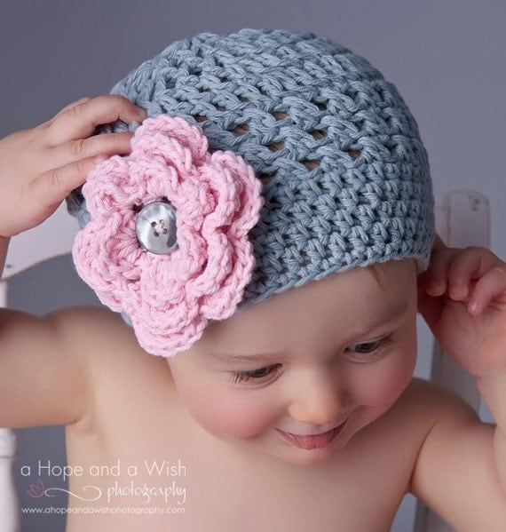 Baby girl Hat Toddler Crochet Hat Infant Winter Hat Baby