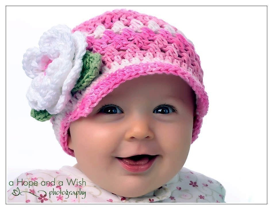 Crochet Patterns For Baby Girl : Baby Girl Hat Crochet Baby Hat Toddler Girls hat Crochet