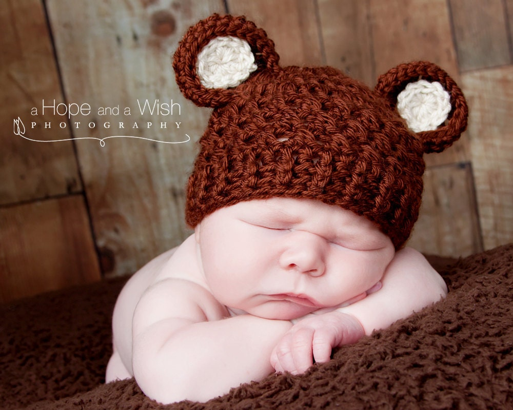Häkeln Sie Baby Mütze Mit Ohren Häkeln Sie Baby Hut