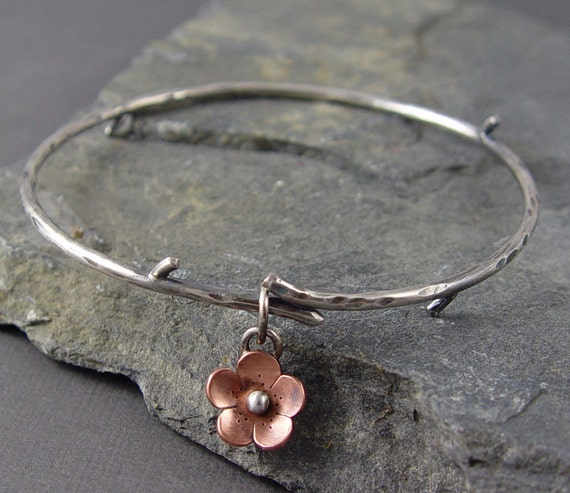 Reserve for Kstatzer -Cherry Blossom Branch Bangle -metalsmithing, Gifts under 50, Mothers day gifts, gifts for mom
