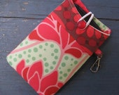 Gift Idea...iPhone 4/ iPod /Smart Phone Case/Sleeve/Holder / Peonies in Red