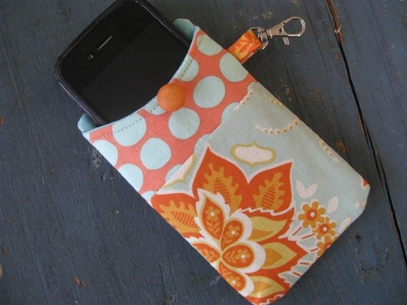 Gift Idea...iPhone 4/ iPod /Smart Phone Case/Sleeve/Holder / (Joel Dewberry) Heirloom