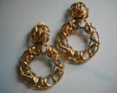SALE--FREE Shipping Clip on Earrings Vintage Les Bernard