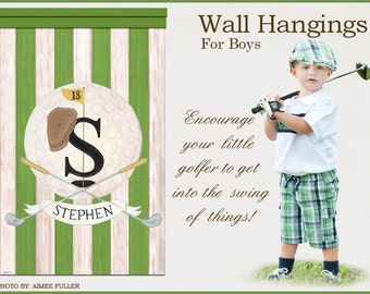Golf Vintage Sports Collection Masters Green Wall Hanging Kids Room Decor Art Teens Boy Mural