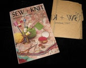 70s sewing and knitting book with uncut pattern