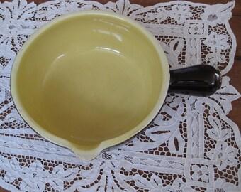 Vintage brown glaze Hall casserole with pour spout and handle