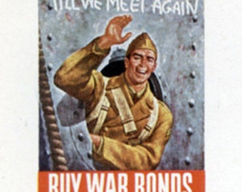 WW2 Till We Meet Again - Buy War Bonds Stationary