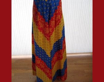70s colorful maxi skirt by Lanz Originals