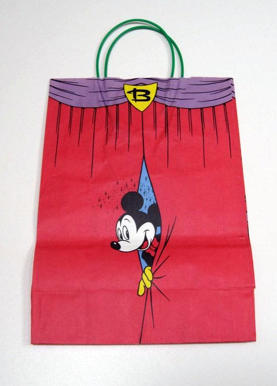 Vintage Disney paper shopping bag for Bloomingdales