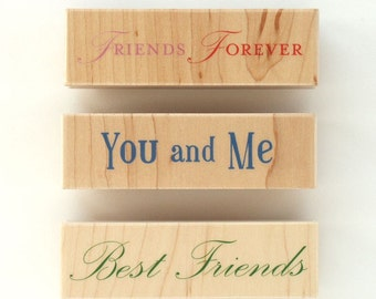Best Friends Forever Rubber Stamp Set