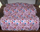 Sewing Tools Sewing Supplies on Light Pink Pale Pink Back Fleece Tie Blanket No Sew Fleece Blanket 60x72 Approx.