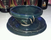 Hand thrown Plates and Bowl set