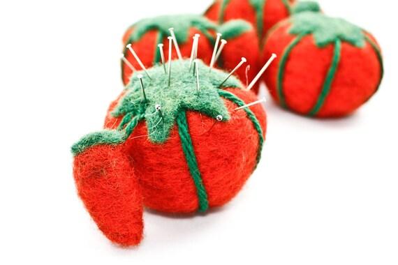 Felted Tomato Pin Cushion