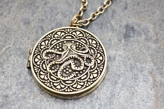 Octopus Locket (Brass)
