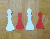 Chess piece die cuts