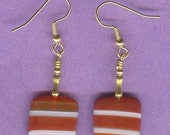 Red Striped Agate Earrings
