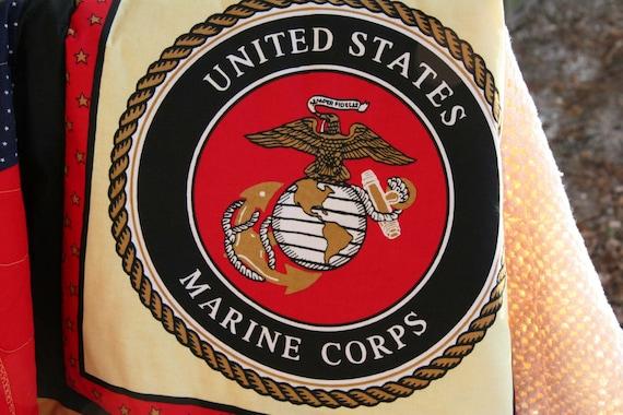 Marine Corp Emblem Baby Quilt