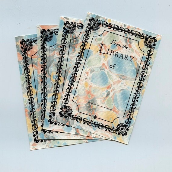 Book Plates with Spanished Italian Spot Pattern