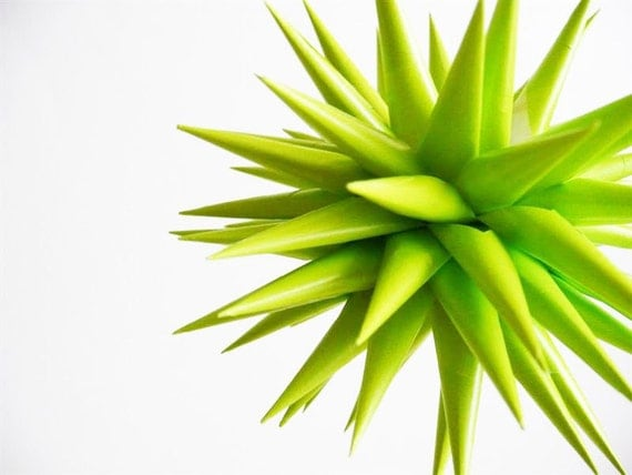 4 inch Chartreuse Star Urchin Ornament
