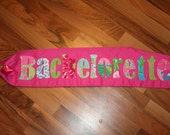 Bachelorette Party Sash made with Lilly Pulitzer Fabric